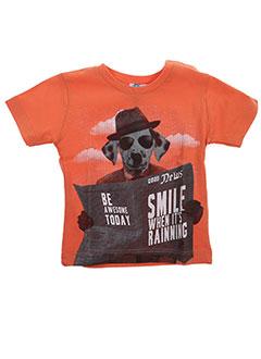 T-shirt manches courtes orange ABSORBA pour garçon
