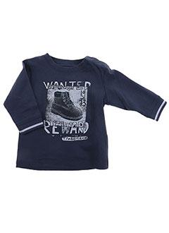 T-shirt manches longues bleu TIMBERLAND pour garçon