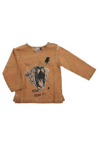 T-shirt manches longues marron 3 POMMES pour fille