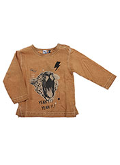 T-shirt manches longues marron 3 POMMES pour fille seconde vue