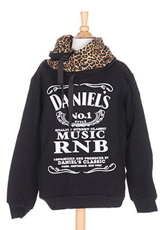 Sweat-shirt noir DANIEL'S MUSIC pour fille