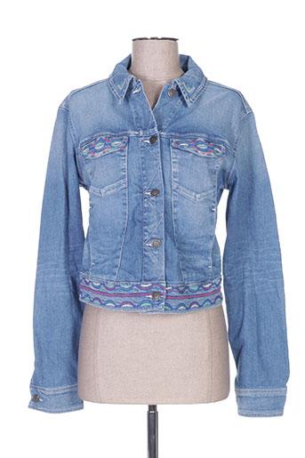 school rag vestes femme de couleur bleu