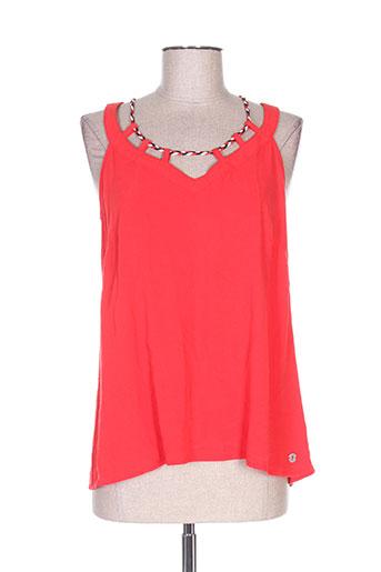 lola espeleta t-shirts femme de couleur rouge