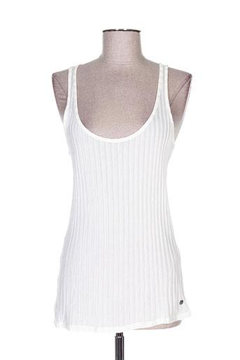 garcia t-shirts femme de couleur blanc