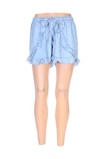 tiffosi shorts / bermudas femme de couleur bleu