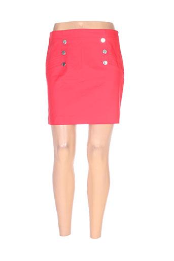 morgan jupes femme de couleur rouge