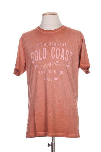 tiffosi t-shirts homme de couleur orange
