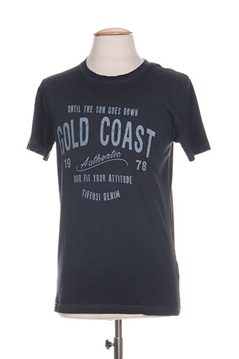 tiffosi t-shirts homme de couleur bleu