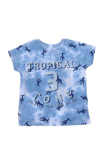 3 pommes t-shirts garçon de couleur bleu