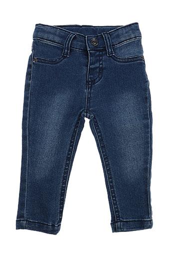 3 pommes jeans fille de couleur bleu