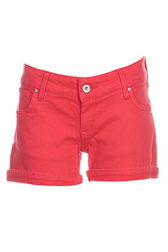 pepe jeans shorts / bermudas fille de couleur rouge