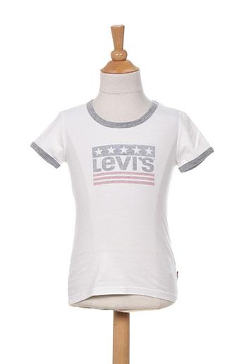 levis t-shirts fille de couleur blanc