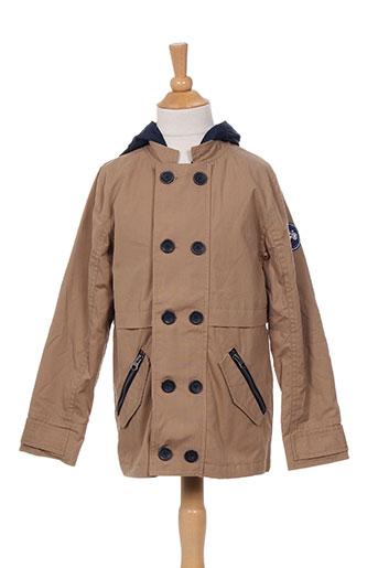 jean bourget manteaux garçon de couleur marron