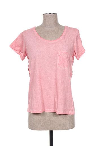 teddy smith t-shirts fille de couleur rose