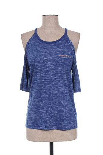 teddy smith t-shirts fille de couleur bleu