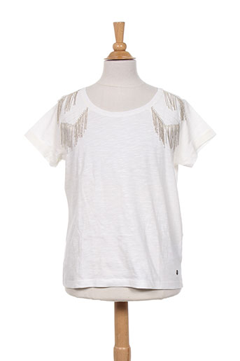 beckaro t-shirts fille de couleur blanc