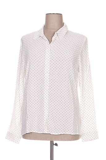 zilch chemises femme de couleur blanc