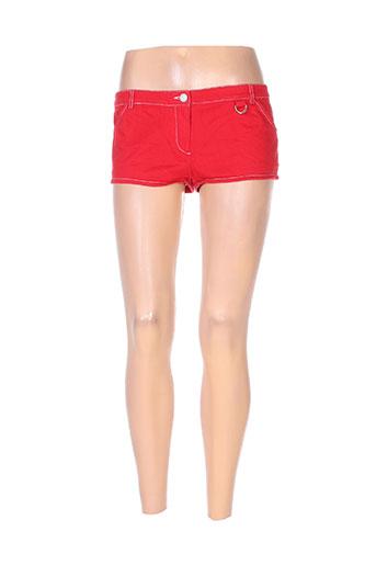 kookai shorts / bermudas femme de couleur rouge
