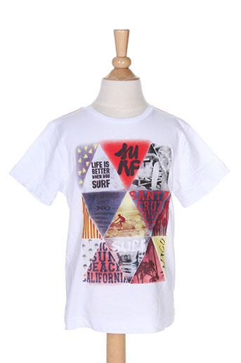 3 pommes t-shirts garçon de couleur blanc