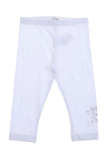 3 pommes pantalons fille de couleur blanc