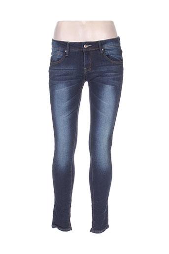 karostar jeans femme de couleur bleu