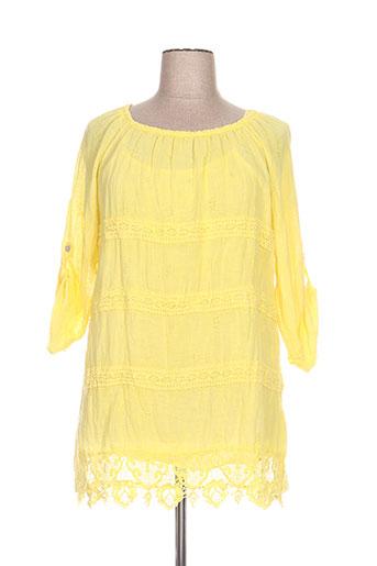 piment rouge tuniques femme de couleur jaune