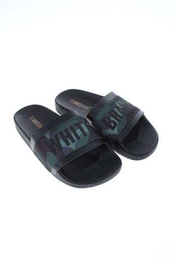 thewhitebrand chaussures garçon de couleur noir
