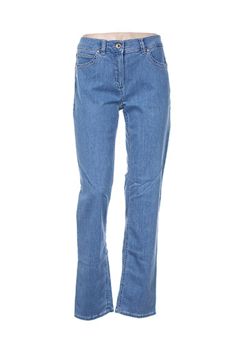 anna montana jeans femme de couleur bleu