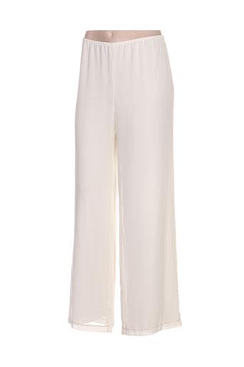 jean delfin pantalons femme de couleur blanc