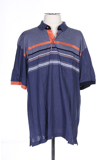 Polo manches courtes bleu GIORGIO BELLINI pour homme