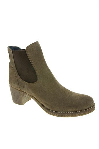 pinto di blu chaussures femme de couleur marron