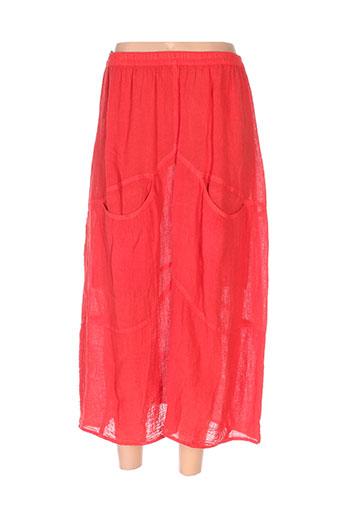 bohéme jupes femme de couleur rouge