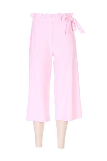 ferrache pantacourts femme de couleur rose