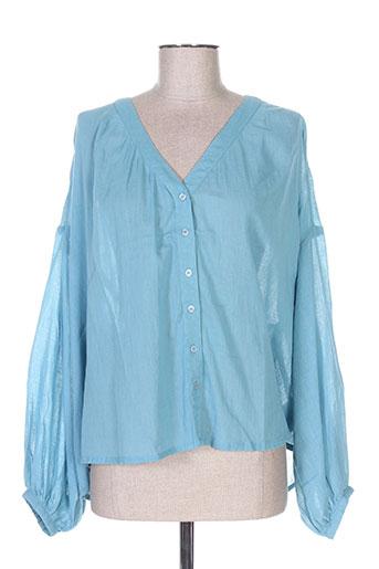 not shy chemises femme de couleur bleu