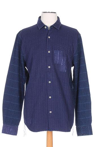 denham chemises homme de couleur bleu