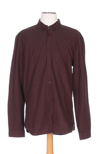 suit chemises homme de couleur marron