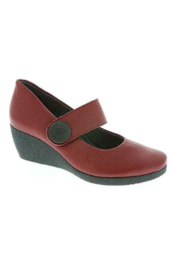 hirica chaussures femme de couleur rouge