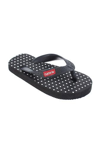 name it chaussures fille de couleur noir