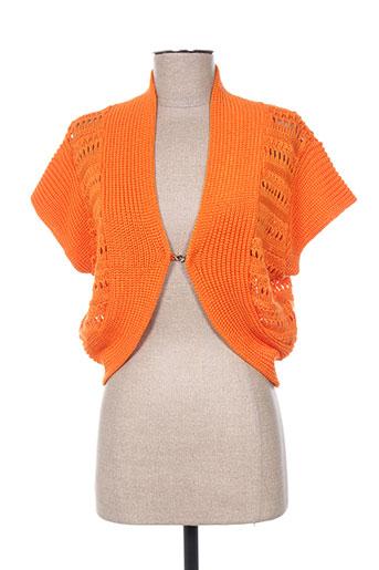 felino vestes femme de couleur orange