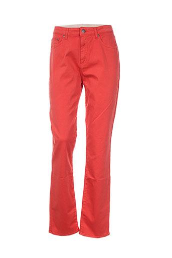 kanope pantalons femme de couleur orange