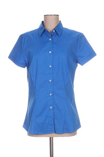 Chemisier manches courtes bleu CRISTIANA C pour femme
