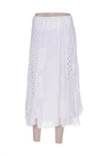 zeli jupes femme de couleur blanc