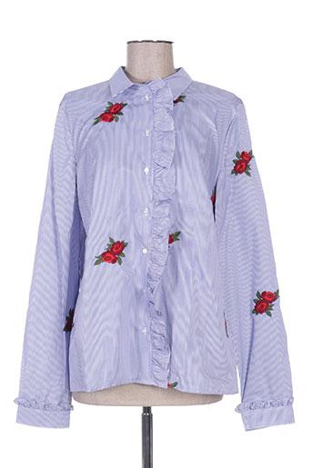 guess chemises femme de couleur bleu