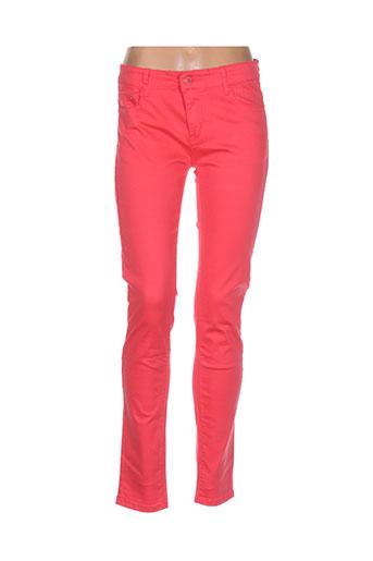bs jeans pantalons femme de couleur rose