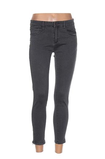 bs jeans pantalons femme de couleur gris