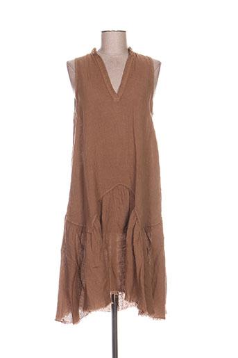 le streghe robes femme de couleur marron