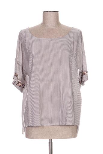 kokomarina chemises femme de couleur gris