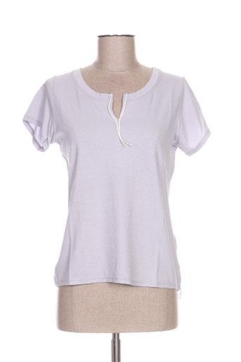 poissons blancs t-shirts femme de couleur gris