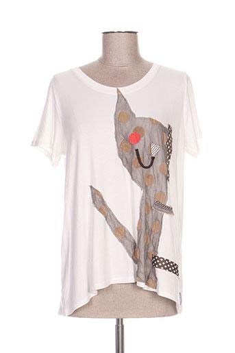 poissons blancs t-shirts femme de couleur blanc