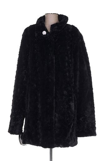 baronia manteaux femme de couleur noir